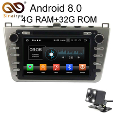 Android 8.0 8 Core 4G RAM Car DVD GPS For Mazda 6 Ruiyi Ultra 2008 2009 2010 2011 2012 WIFI Autoradio Multimedia Stereo