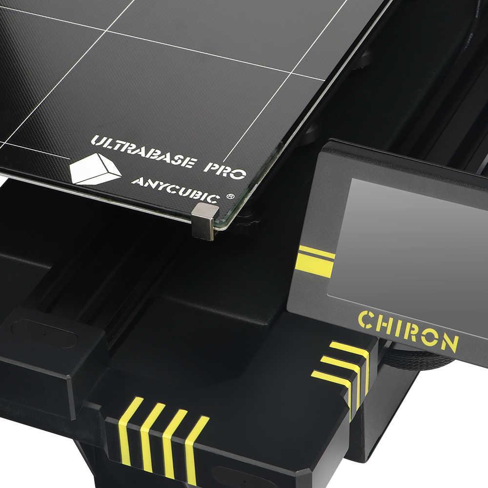 Anycubic Chiron Newet 3D Printer Kit dengan Klip Ukuran Ultrabase Extruder Screen Dual Z Axisolor Updated Impresora 3D Drucker