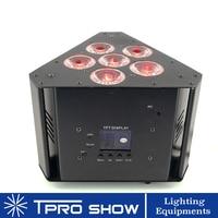 4 шт Hex может осветить Батарея питание RGBWA UV светодиод беспроводной Dmx светильник треугольной формы для фермы стоят Свадебные украшения