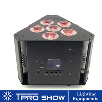 4pcs Hex Can Light Battery Powered RGBWA UV LED Par Wireless Dmx Triangle Lighting for Truss Stand Wedding Decoration