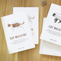 A5 Cat Walk Creative Theme Hand Books Hand Painted Fresh Lovely Diary Notes Schedule Notebook