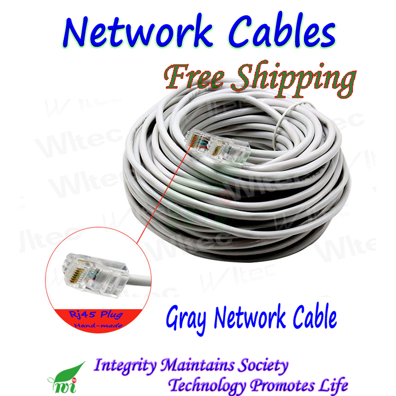 UTP Unshielded Twisted Pair Outdoor Network Cable High Speed For 1000Mbps 8 Cores Free Plug Made By Hand, 3M,  5M, 10M To 30M