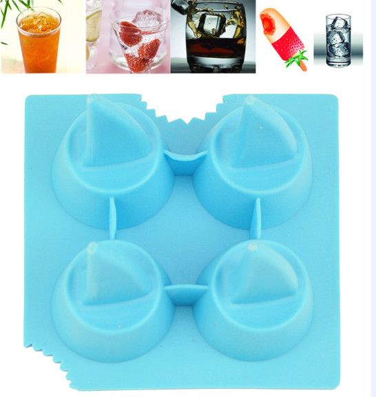 Pudding cuisine outil Silicone Maker bricolage Outils Boisson Ice Mold Shark Cube Forme