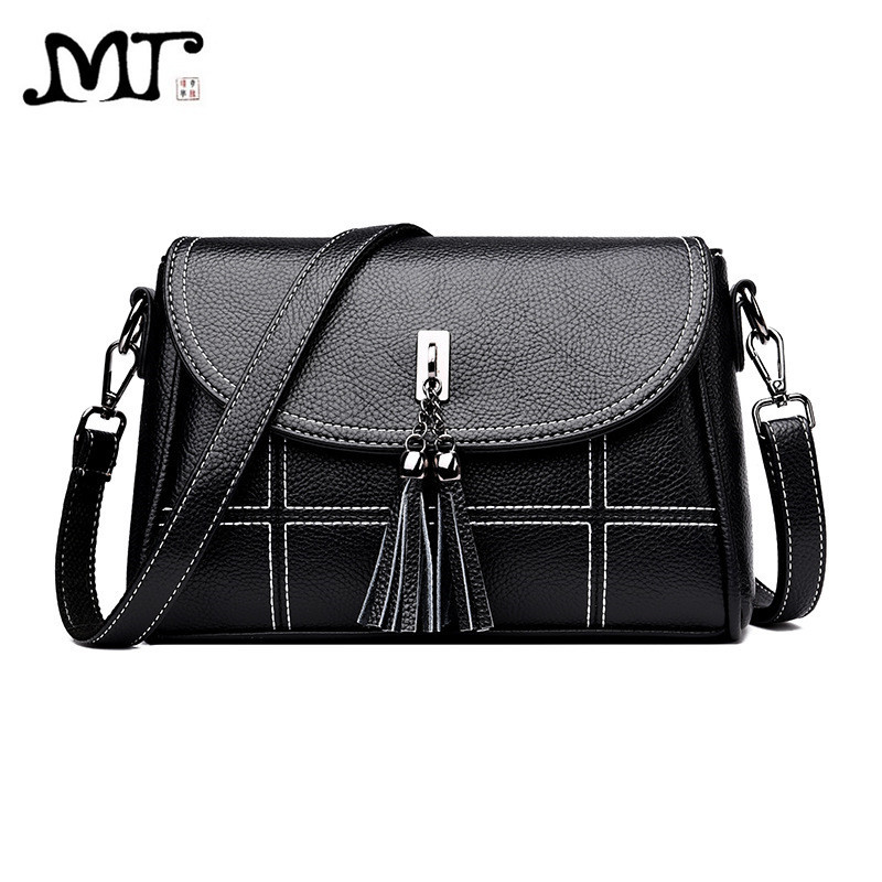 MJ Women Leather Crossbody Bag Female PU Leather Crossbody Handbag Fashion Tassel Messenger Bag Ladies Small Shoulder Bags aelicy cute dog shape children shoulder bag fashion girl shoulder messenger bags baby pu leather ladies crossbody bags small