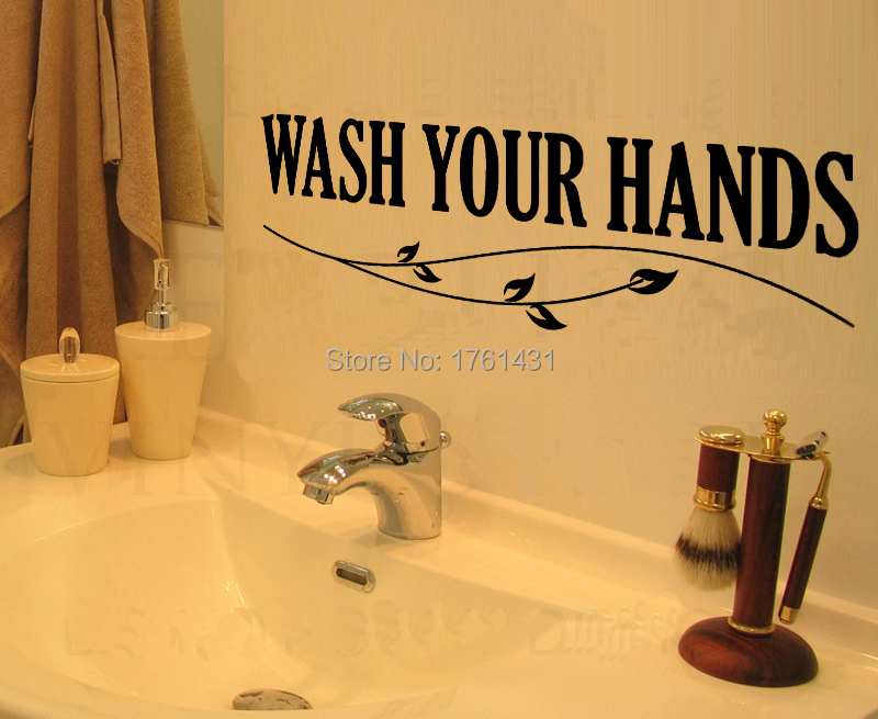 Wash Your Hands Home Decoration Wall Art Decals Quote