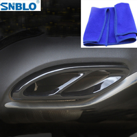 Car Accessories Exhaust Cover Trim for Mercedes Benz E C A B GLC W205 W213 W176 W246 With Free Towel