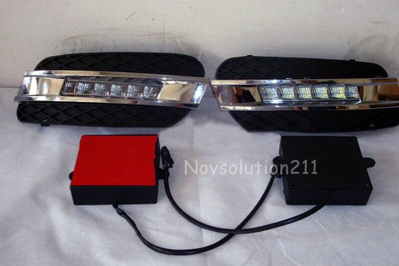 DRL Daytime Running Light DRL For Mercedes Benz ML W164 2006 2007 2008 2009 free shipping 12v 6000k led drl daytime running light case for mercedes w164 gl320 gl350 gl420 gl450 gl550 2006 2007 2008 2009