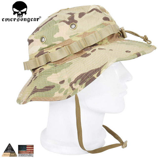 c1d93db4624 EMERSONGEAR Tactical Boonie Hat Army Hunting Hat Boonie Cap Airsoft  Camouflage Hunting Sunshine Hat emerson Multicam EM8553