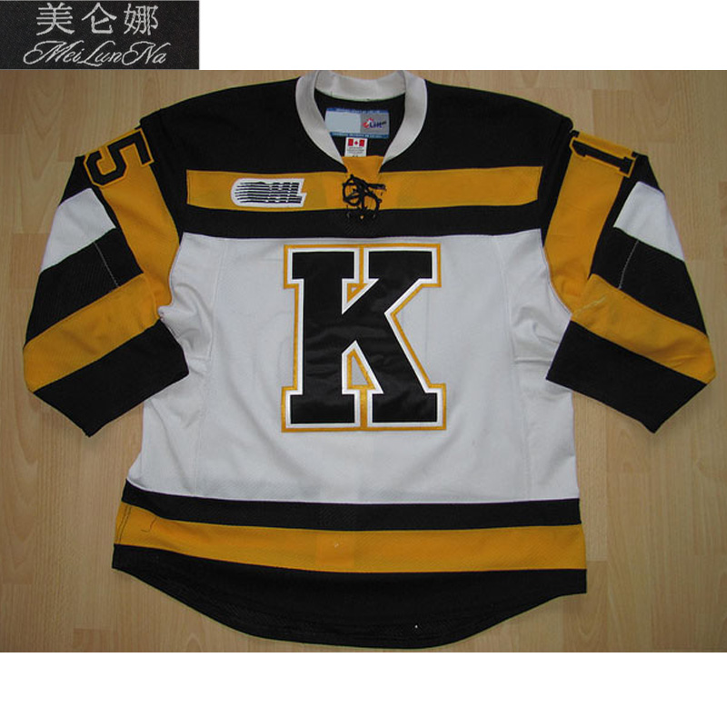цена на MeiLunNa Custom OHL Kingston Frontenacs jerseys 24 Chris Stewart 93 Doug Gilmour Sam Bennett 4 6 Gudbranson Sewn On Any Name NO.