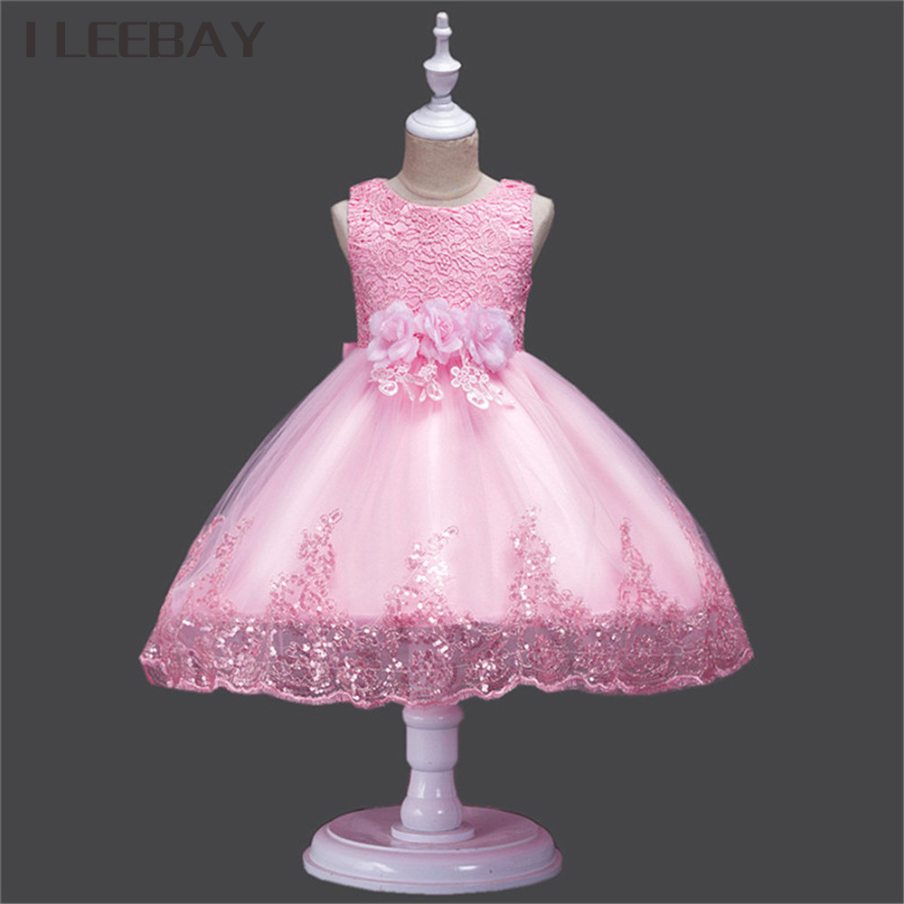 Baby Girls Wedding Dress Summer Style Floral Kids Clothes Children Princess Dress Infant Gratuation Gown Party Costume Vestidos summer baby dress voile floral wedding dresses for girls toddler infant girl vestido infantil girls costume cute dress clothes