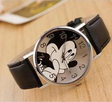 2016 fashion luxury brand minnie mickey women watch boy girl cartoon watches imitation leather Unisex quartz watch holiday gifts