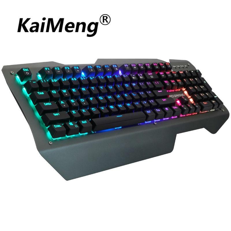 kaiMeng ka003 mechanical keyboard gaming mouse gamer keyboard 104key LED backlit mechanical keyboard professional Blue switch