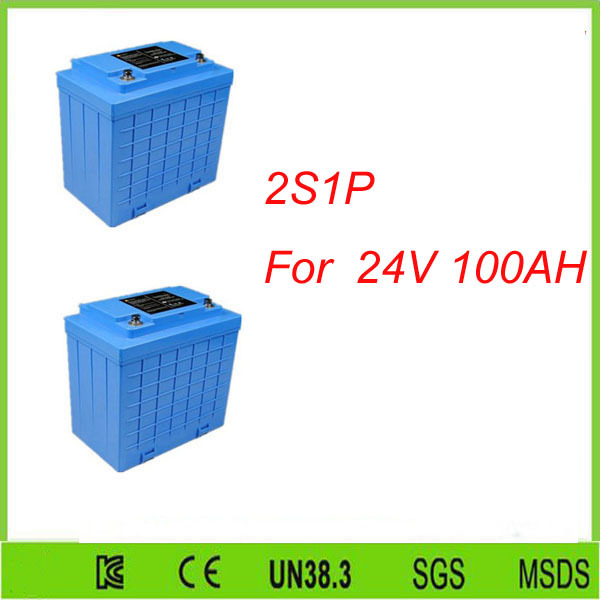 2pcs 2S1P 12V 100AH lifepo4 phosphate battery/ lifepo4 battery 12v 100ah/ lifepo4 12v 100ah For 24V 100AH lifepo4 battery pack