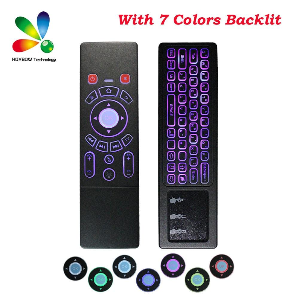10 Stücke Fly Air Maus T6 7 Farben Wireless-tastatur Mit Hintergrundbeleuchtung & Touchpad Fernbedienung Für Smart Tv Android Tv Box Mini Pc Htpc