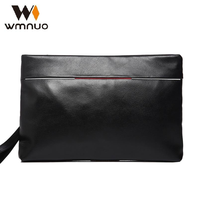 Wmnuo 남자 핸드 가방 정품 가죽 쇠가리 남자 핸드백 2018 남자 지갑 지갑 클러치 패션 대용량 남성 캐주얼 전화 가방