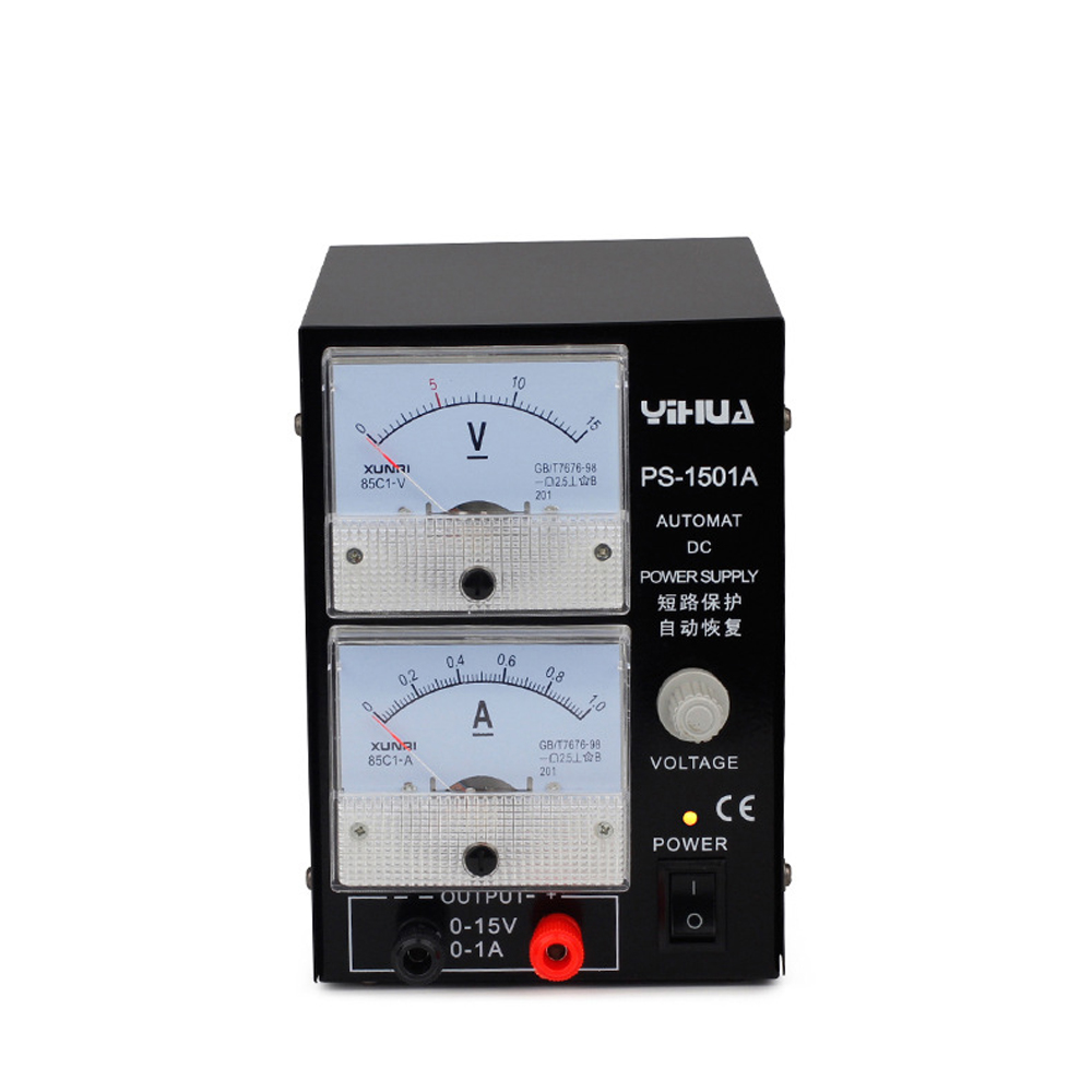 YIHUA 1501A High Quality 15V 1A Adjustable DC Power Mobile Phone Repair Communication Special Test Regulated Power Supply yihua 1501a 15v 1a adjustable dc power supply mobile phone repair power test regulated power supply