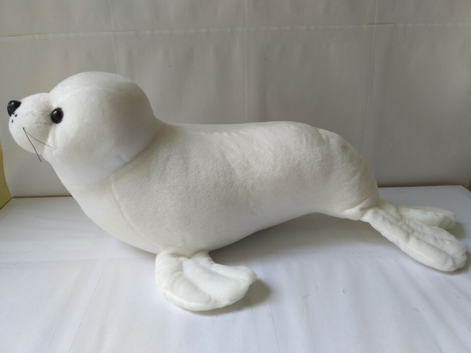 big new Plush sea lion toy stuffed white high quality sea lion doll birthday gift about 60cm stuffed animal 44 cm plush standing cow toy simulation dairy cattle doll great gift w501