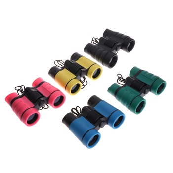 4x30 Plastic Children Binoculars Telescope For Kids Outdoor Games Toys Compact Children Binoculars 8x21 kids binoculars compact binocular roof prism for bird watching educational learning christmas gifts children toys