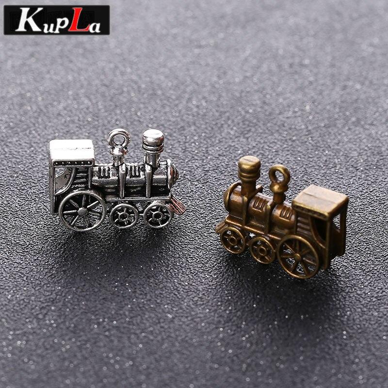 Vintage Metall Dampf Zug Charme Mode Diy Klassische Zubehör Handgemachte Charme Für Schmuck Machen 10 Teile/los Chinesische Aromen Besitzen