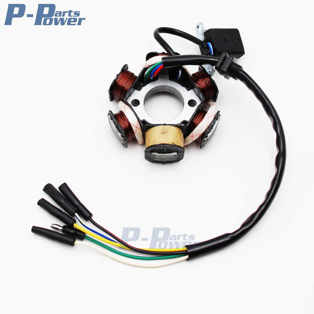 Pit Dirt Bike ATV Quad Buggy 6 POLE Stator Plate Magneto Generator Coil 110cc 125cc 150cc NEW