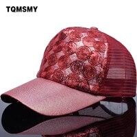 TQMSMY Paillette Bling Artistic Circle Sequins Mesh Baseball Cap Men Women Travel Leisure Hat Trucker Cap
