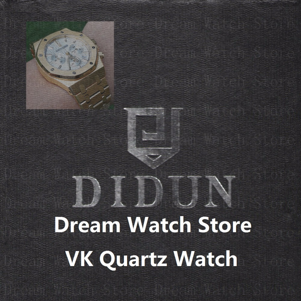 DIDUN Watch Mens Watches Top Brand Luxury Gold Quartz Wristwatch Waterproof Minimalist Wristwatch With Stainless Steel Bracelet didun mens watches top brand luxury watches men steel quartz brand watches men business watch luminous wristwatch water resist