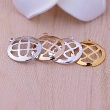 1pc  19mm round mesh hanging hanging piece bracelet copper pendant pendant diy jewelry accessories wholesale