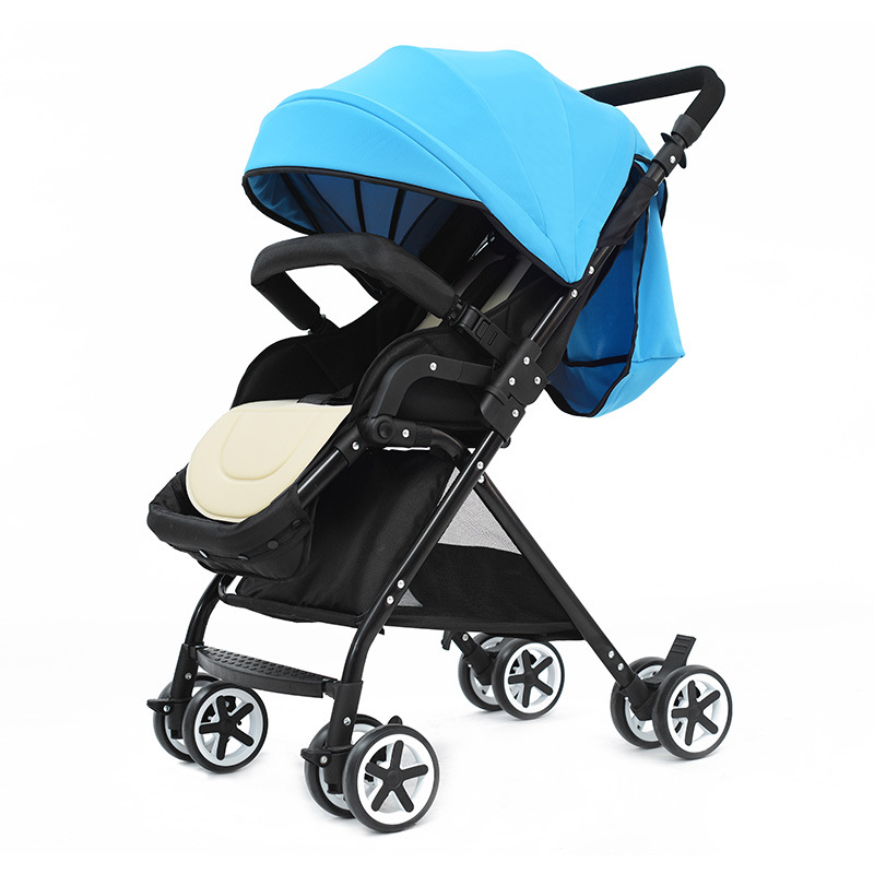 Lightweight four-wheeled stroller high landscape multi-function ...