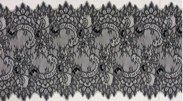 ⑥Hitam putih Chantilly kain renda 0c2e0f8118