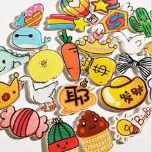 1 PC Cartoon Dinosaur Lady Milk Brooch Acrylic Badges Icons on Backpack Pin Badge Decoration suit for Bags and Clothing(China)