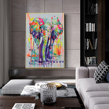 CHENFART Canvas Painting Classical Elephant Animal Oil Picture for Living Room Abstract Paintings Unframed