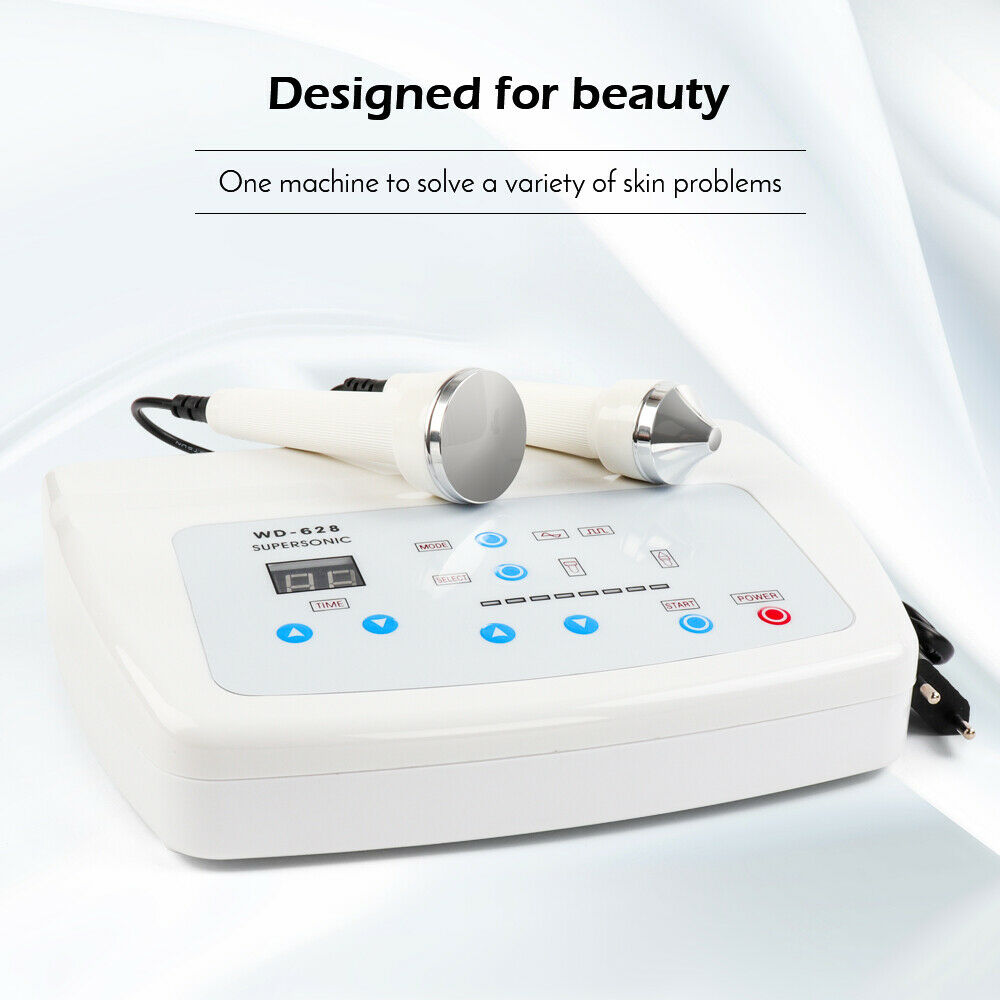 Pro 1Mhz 3MHz Ultrasonic Facial Machine Anti Aging Skin Lifting Salon Spa Beauty  Skin Care Machine With Eliminate Freckles