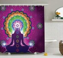 Fioletowy Mandala zasłona prysznicowa praktykujący Jade kwiatowy wzór kurtyna łazienkowa Douchegordijn Rideau De Douche Cortina Ducha 3D