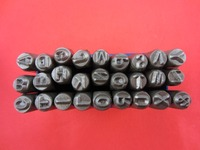 Jewelry Pinches 27pcs 8 MM Capital Letter A Z Punch Stamp Set Steel Punch Tool