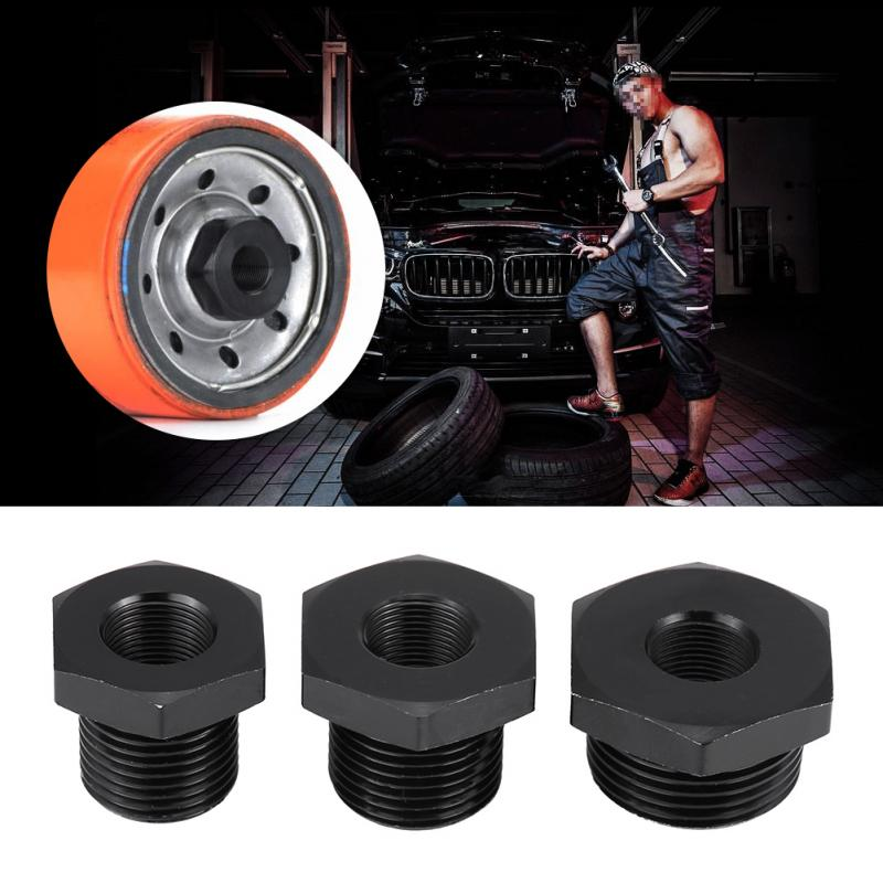 Universal Black Car Automotive Oil Filter Threaded Adapter Auto Replacement Parts Automobiles Filters Oil Filters