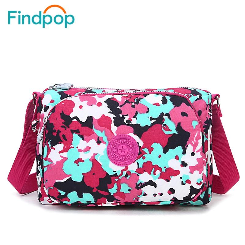 2016 Findpop Women Messenger Handbag Small Shoulder Fabrics Canvas font b Bag b font Waterproof Nylon