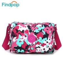2016 Findpop Women Messenger Handbag Small Shoulder Fabrics Canvas Bag Waterproof Nylon  Ladies Crossbody