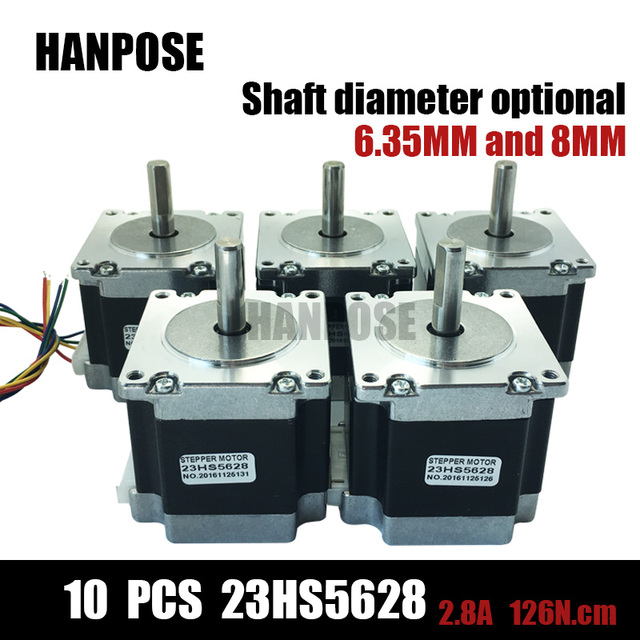 10PCS 23HS5628 4-lead Nema 23 Stepper Motor 57 motor NEMA23 Stepper Motor 2.8A ISO CNC Laser Grind Foam Plasma Cut