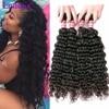 8A Deep Wave Brazilian Hair Brazilian Deep Wave Virgin Hair Human Hair 3 Bundles Brazilian Deep Curly Virgin Hair Weave Bundles