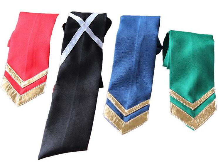 Anime Ensemble Stars Hokuto Hidaka Narukami Arashi Aoi Yuta Tie Cosplay Costumes Red / Blue / Green / Black Necktie Accessories