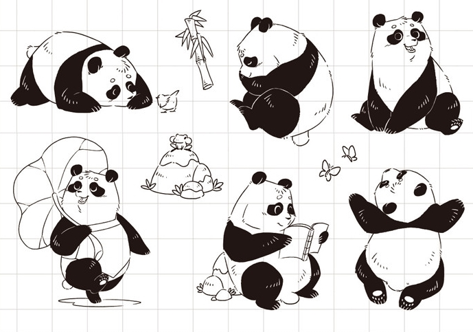 YPP CRAFT Pandas Transparent Clear Silicone Stamp/Seal for DIY scrapbooking/photo album Decorative clear stamp sheets about lovely baby design transparent clear silicone stamp seal for diy scrapbooking photo album clear stamp paper craft cl 052