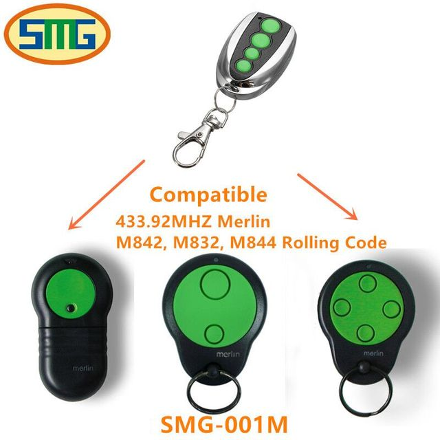 US $34 0 |3pcs Hot sale Merlin M832 M842 M844 garage door 230t 430r  replacement remote control free shipping-in Remote Controls from Consumer