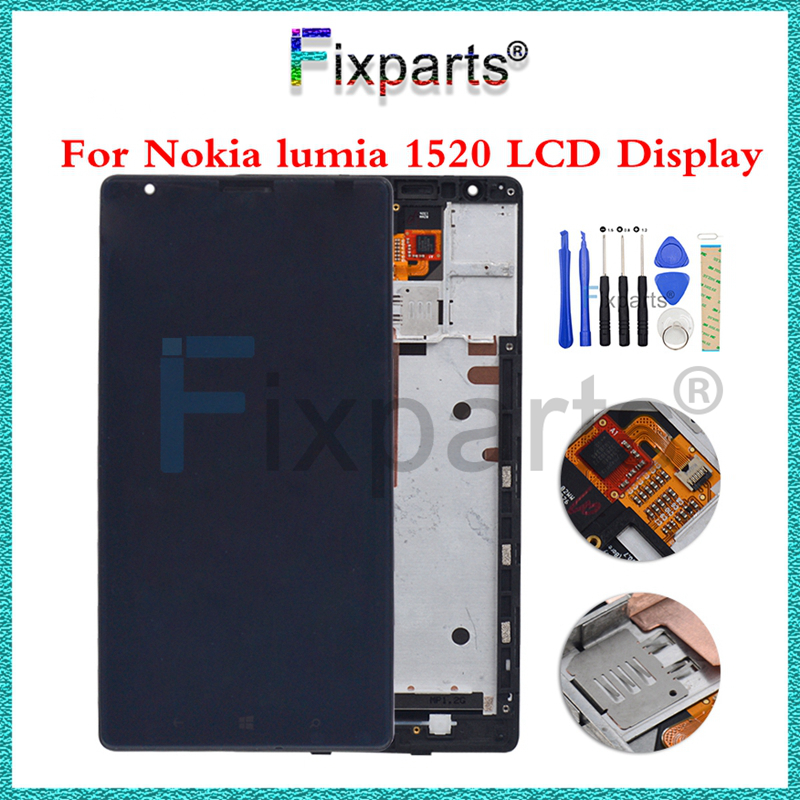 100% Tested LCD Display + 6.0LCD For Nokia Lumia 1520 Touch Screen Digitizer Assembly With Frame For Nokia 1520 LCD100% Tested LCD Display + 6.0LCD For Nokia Lumia 1520 Touch Screen Digitizer Assembly With Frame For Nokia 1520 LCD