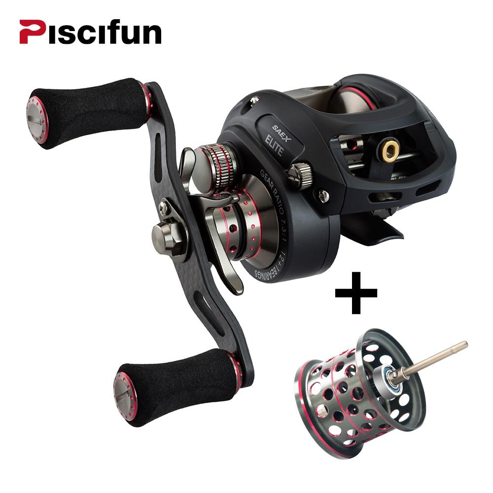 Piscifun SAEX ELITE Baitcasting Reel Fishing Con Spool Extra Mano Destra Sinistra 13BB 7.3: 1 167g Super Leggero Casting Reel Fishing