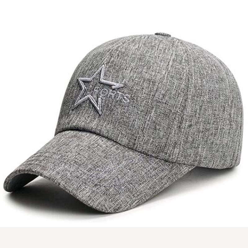 Men Baseball cap for male Fashion trend Star Embroidery hat leisure outdoor travel mountaineering autumn Casquette Bone Casual fashion majuscule english word embroidery baseball cap for men