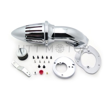 Aftermarket motorcycle parts Motorcycle Air Cleaner intake kit filter for Honda VTX1300 VTX 1300 1986-2012 CHROME image