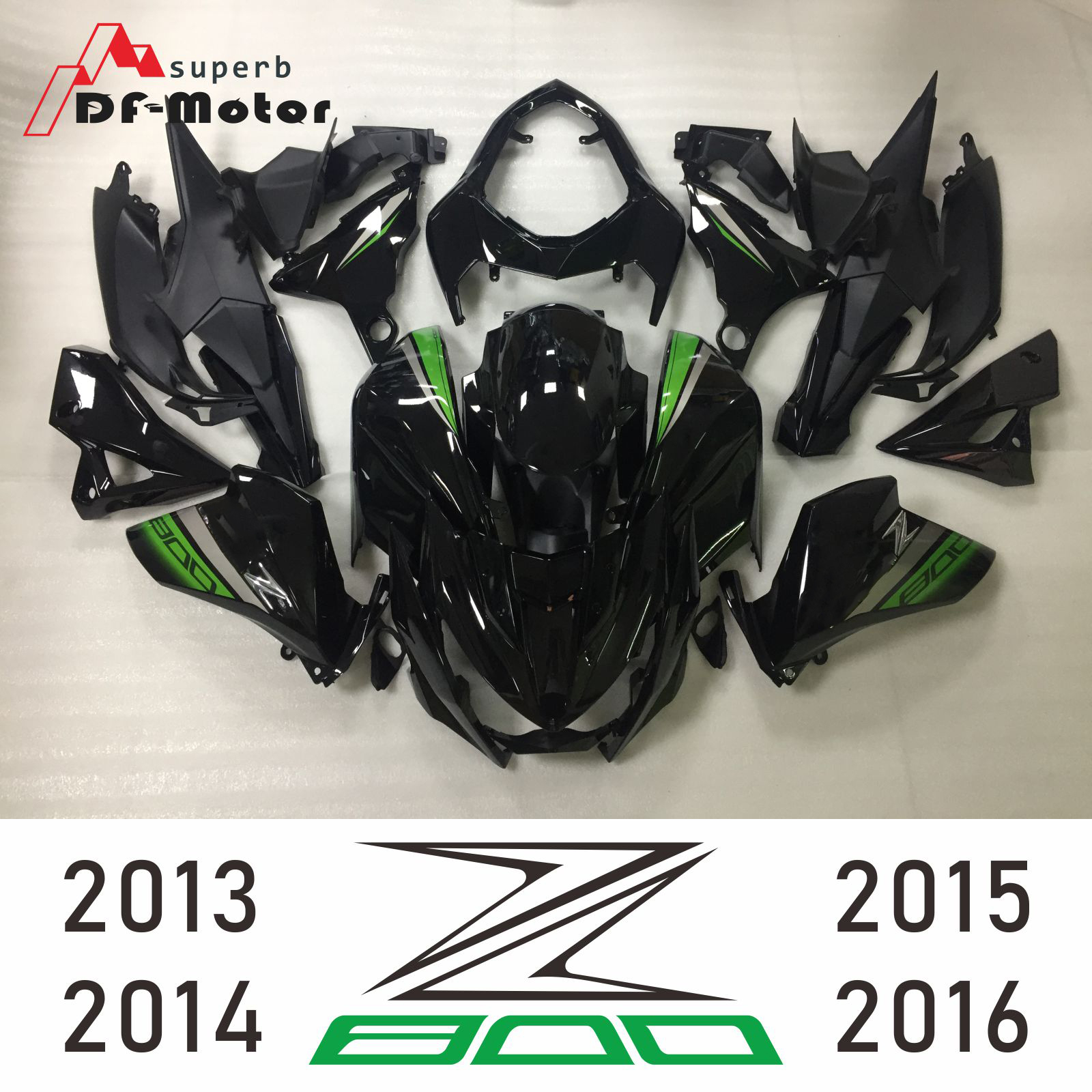 Full High Quality ABS Injection Plastics Fairings Kit For Kawasaki Z800 2013 2016 13 14 15 16 Customized Gloss Black Green New in Full Fairing Kits from Automobiles Motorcycles