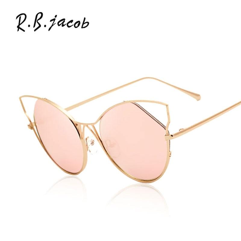 Cat Eye Full Metal Hollow New Sunglasses Men Women 2017 Brand Designer Mirror Sun Glasses Male Female Shades UV400 Shop online