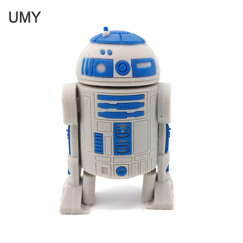 Usb Flash Drive Star War Pendrive Series R2D2 Robot 4GB/8GB/16GB/32GB Usb 2.0 Flash Disk Memory Stick Full Capacity Pen Drive