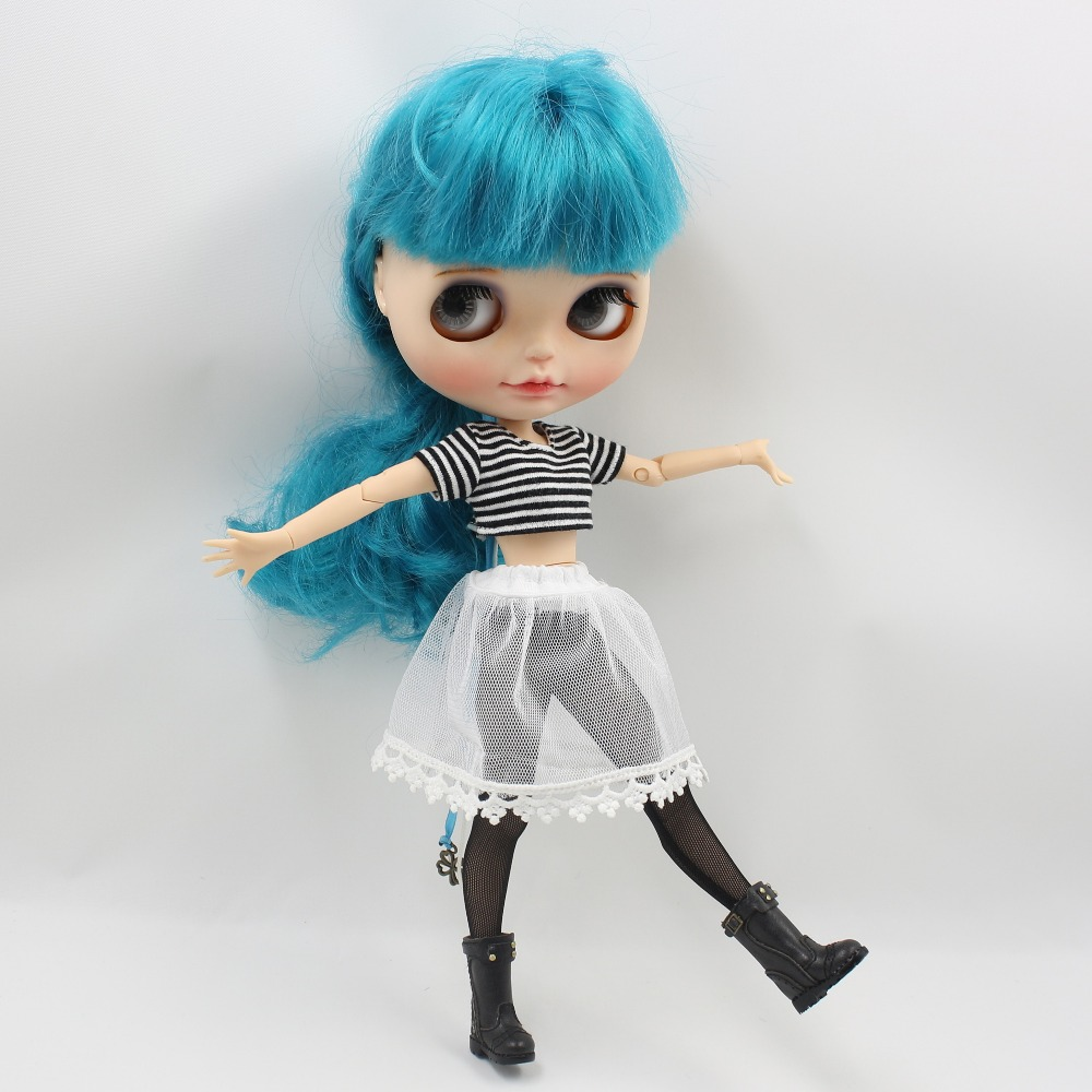 Neo Blythe Doll Crop Shirt with Leggings Underwear & Lace Skirt 2